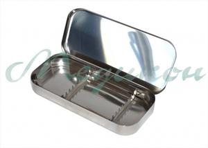 Лоток стоматологический ЛМСУ-Медикон 195х90х25 на 8 инструментов с крышкой и укладкой для ручного стом. инструмента