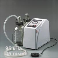 Отсасыватель медицинский В-100 (45 л/мин) в комплекте : педаль дистационного включения- выключения и тележка ТМО -1